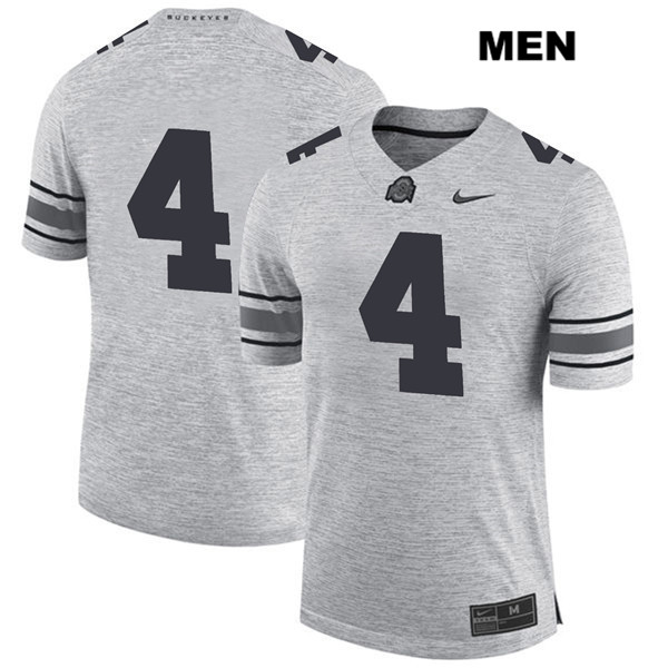 Chris Chugunov Stitched Nike Mens Gray Ohio State Buckeyes Authentic no. 4 College Football Jersey - Without Name - Chris Chugunov Jersey