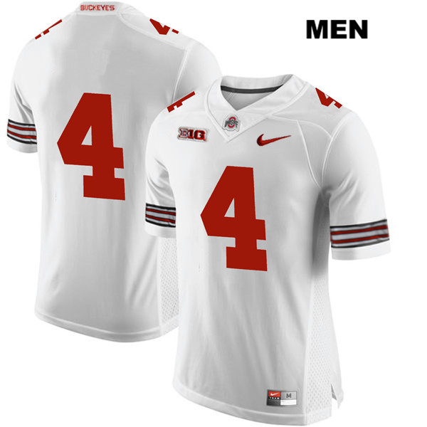Chris Chugunov Stitched Mens White Ohio State Buckeyes Authentic Nike no. 4 College Football Jersey - Without Name - Chris Chugunov Jersey