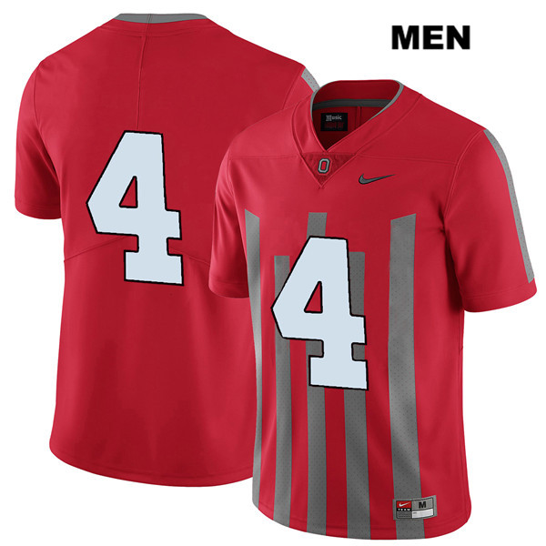 Chris Chugunov Nike Mens Red Elite Ohio State Buckeyes Authentic Stitched no. 4 College Football Jersey - Without Name - Chris Chugunov Jersey