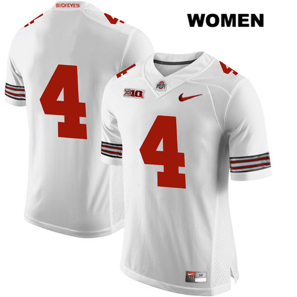 Chris Chugunov Womens White Nike Stitched Ohio State Buckeyes Authentic no. 4 College Football Jersey - Without Name - Chris Chugunov Jersey