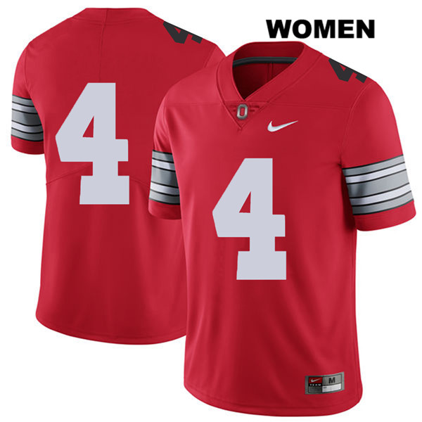 Chris Chugunov Nike Womens Stitched Red Ohio State Buckeyes 2018 Spring Game Authentic no. 4 College Football Jersey - Without Name - Chris Chugunov Jersey