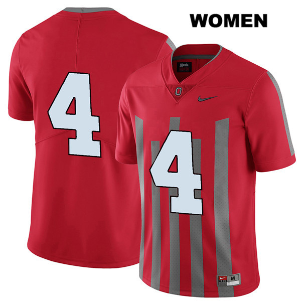 Chris Chugunov Womens Red Stitched Ohio State Buckeyes Authentic Elite Nike no. 4 College Football Jersey - Without Name - Chris Chugunov Jersey