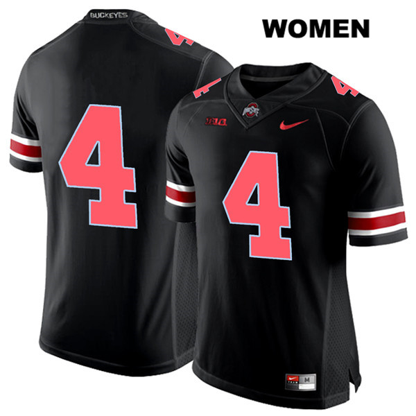 Chris Chugunov Nike Womens Black Ohio State Buckeyes Red Font Authentic Stitched no. 4 College Football Jersey - Without Name - Chris Chugunov Jersey