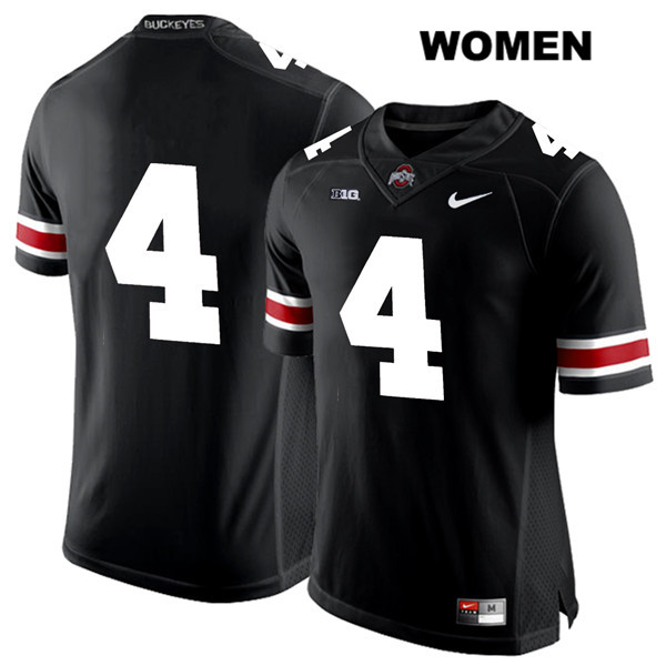 Chris Chugunov White Font Womens Black Nike Ohio State Buckeyes Stitched Authentic no. 4 College Football Jersey - Without Name - Chris Chugunov Jersey