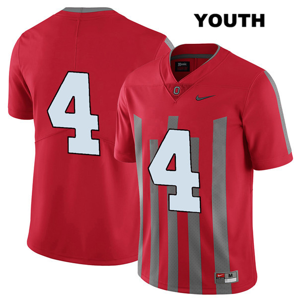 Elite Chris Chugunov Nike Youth Stitched Red Ohio State Buckeyes Authentic no. 4 College Football Jersey - Without Name - Chris Chugunov Jersey