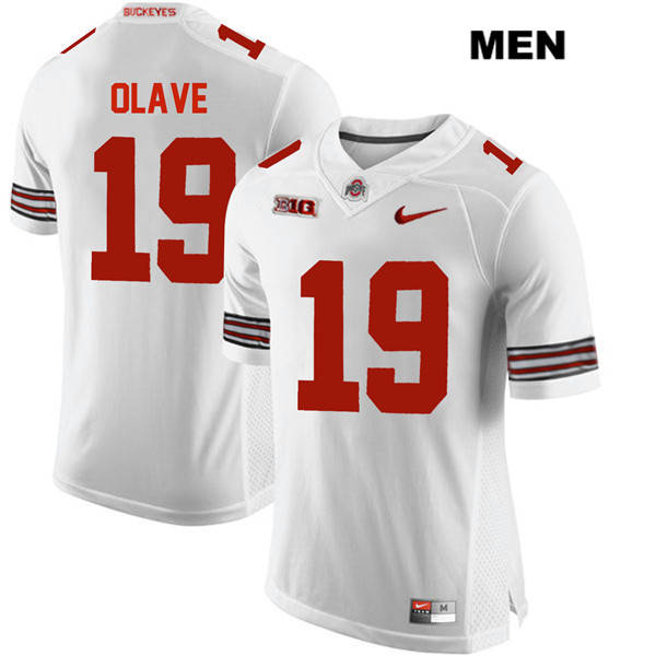 Chris Olave Nike Mens White Ohio State Buckeyes Stitched Authentic no. 19 College Football Jersey - Chris Olave Jersey