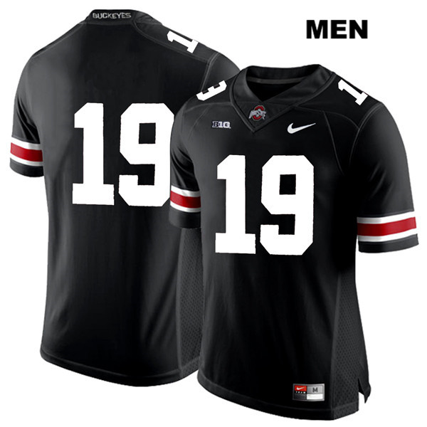 Chris Olave Mens Nike White Font Black Ohio State Buckeyes Authentic Stitched no. 19 College Football Jersey - Without Name - Chris Olave Jersey