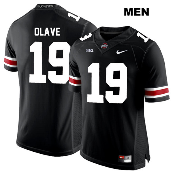 Chris Olave Nike Mens Black Stitched Ohio State Buckeyes Authentic White Font no. 19 College Football Jersey - Chris Olave Jersey