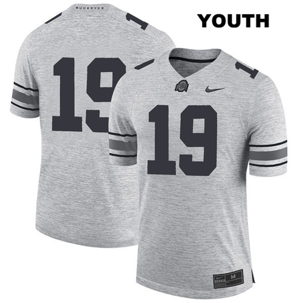 Chris Olave Stitched Youth Gray Ohio State Buckeyes Nike Authentic no. 19 College Football Jersey - Without Name - Chris Olave Jersey