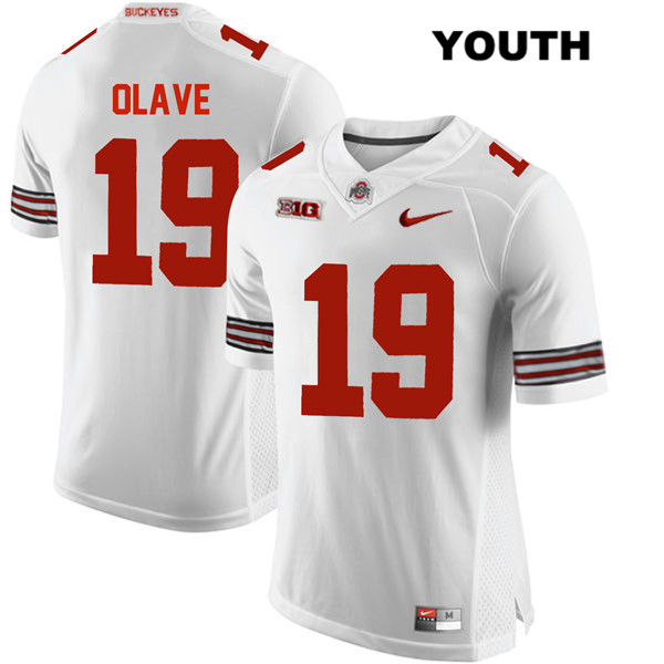 Chris Olave Stitched Youth White Ohio State Buckeyes Nike Authentic no. 19 College Football Jersey - Chris Olave Jersey