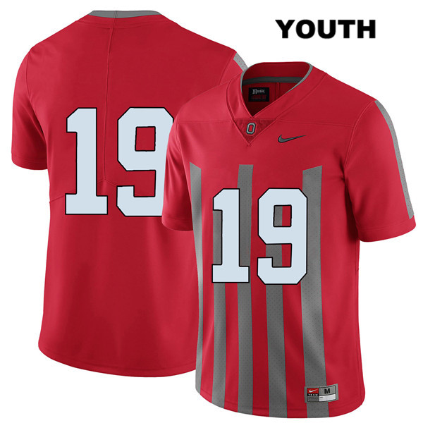Chris Olave Stitched Youth Red Elite Ohio State Buckeyes Authentic Nike no. 19 College Football Jersey - Without Name - Chris Olave Jersey