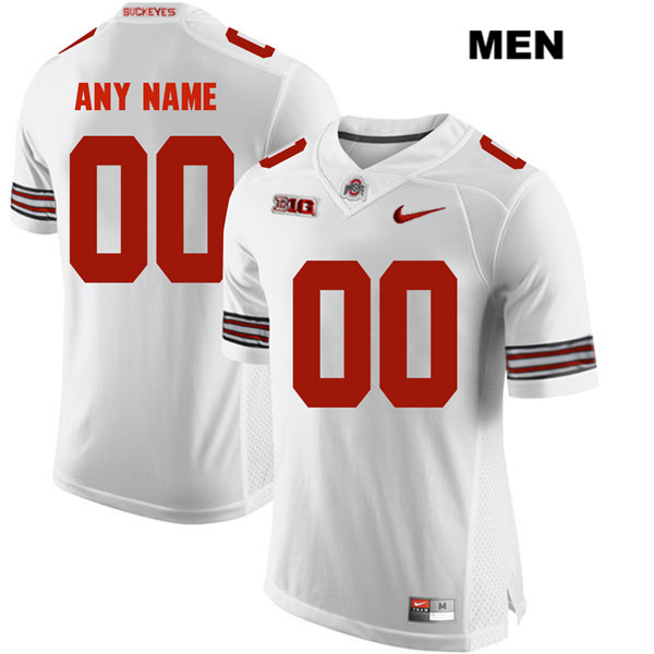 6ff796abe3f Customize Mens White Ohio State Buckeyes Stitched Authentic Nike customize  College Football Jersey