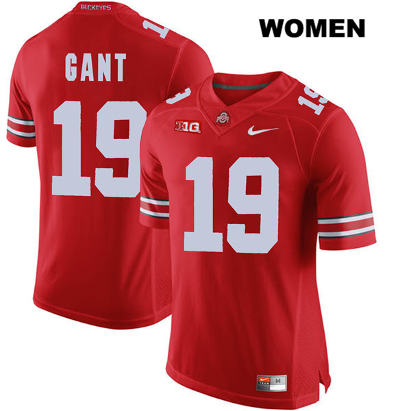 Dallas Gant Stitched Womens Red Nike Ohio State Buckeyes Authentic no. 19 College Football Jersey - Dallas Gant Jersey