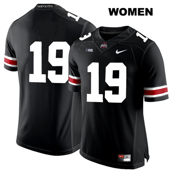 Dallas Gant Womens Black Stitched Ohio State Buckeyes White Font Authentic Nike no. 19 College Football Jersey - Without Name - Dallas Gant Jersey