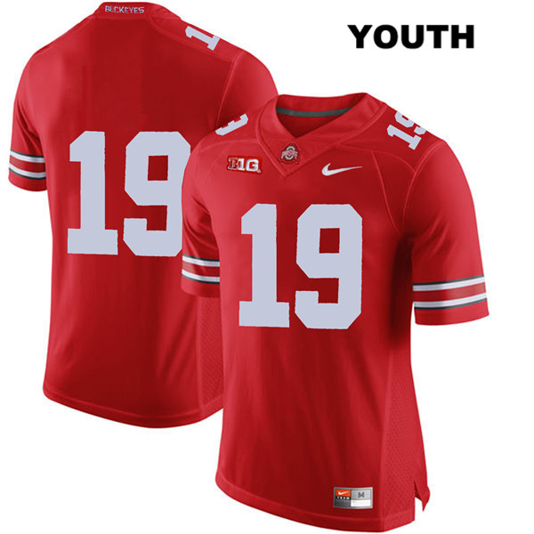Dallas Gant Nike Youth Red Ohio State Buckeyes Authentic Stitched no. 19 College Football Jersey - Without Name - Dallas Gant Jersey
