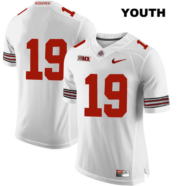 Dallas Gant Stitched Youth Nike White Ohio State Buckeyes Authentic no. 19 College Football Jersey - Without Name - Dallas Gant Jersey