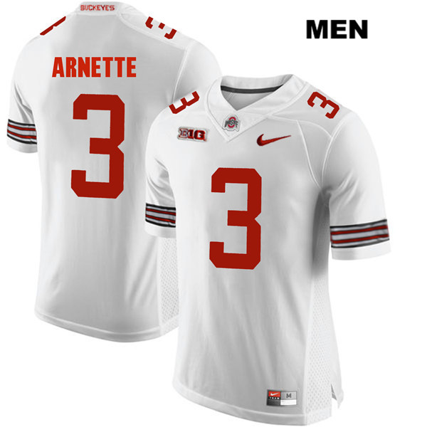 Damon Arnette Mens White Ohio State Buckeyes Nike Authentic Stitched no. 3 College Football Jersey - Damon Arnette Jersey