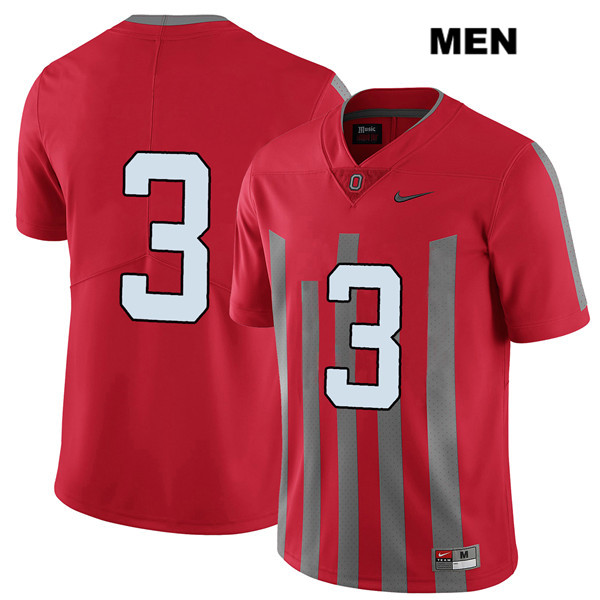 Damon Arnette Mens Stitched Red Ohio State Buckeyes Elite Authentic Nike no. 3 College Football Jersey - Without Name - Damon Arnette Jersey