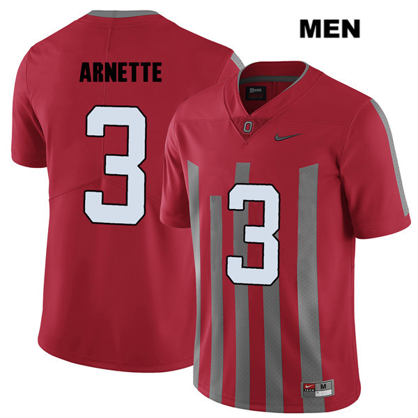Damon Arnette Stitched Mens Red Ohio State Buckeyes Elite Authentic Nike no. 3 College Football Jersey - Damon Arnette Jersey