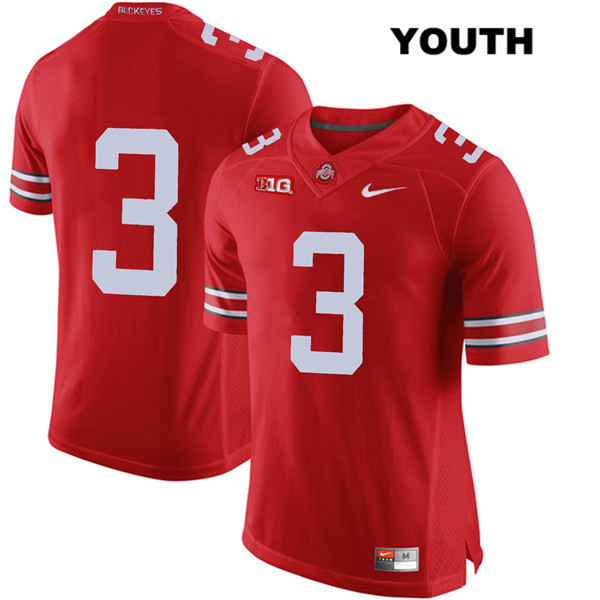 Damon Arnette Stitched Nike Youth Red Ohio State Buckeyes Authentic no. 3 College Football Jersey - Without Name - Damon Arnette Jersey