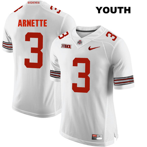 Damon Arnette Nike Youth White Ohio State Buckeyes Stitched Authentic no. 3 College Football Jersey - Damon Arnette Jersey