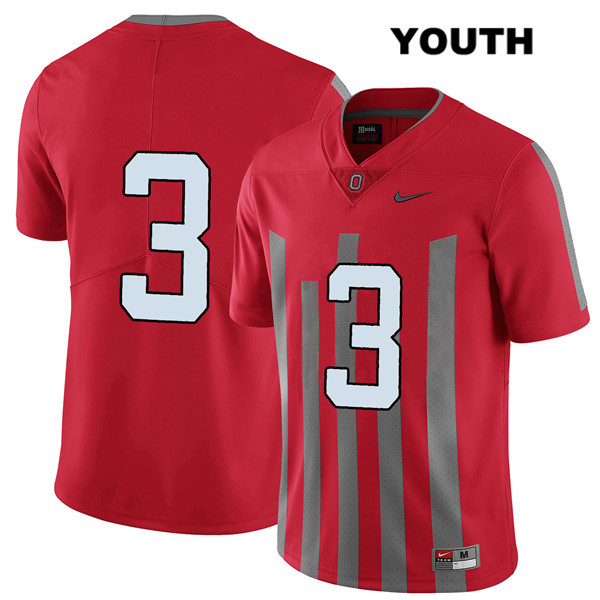 Damon Arnette Youth Nike Red Stitched Ohio State Buckeyes Authentic Elite no. 3 College Football Jersey - Without Name - Damon Arnette Jersey