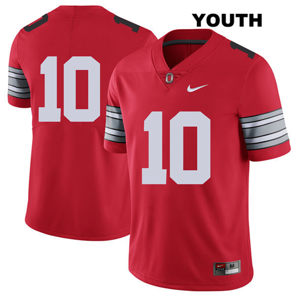 2018 Spring Game Daniel Vanatsky Stitched Youth Nike Red Ohio State Buckeyes Authentic no. 10 College Football Jersey - Without Name - Ohio State Buckeyes Jersey