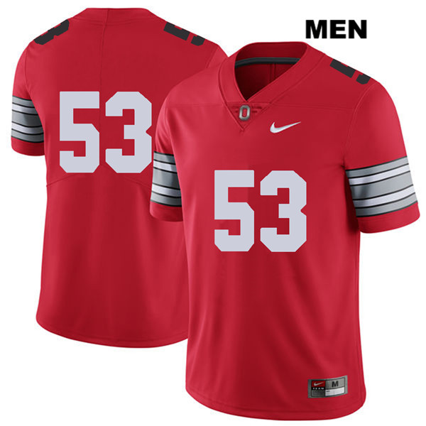 Davon Hamilton Nike Mens Red Stitched Ohio State Buckeyes Authentic 2018 Spring Game no. 53 College Football Jersey - Without Name - Davon Hamilton Jersey