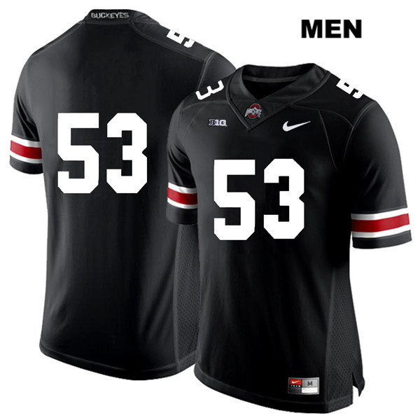 Davon Hamilton Mens Black White Font Ohio State Buckeyes Nike Authentic Stitched no. 53 College Football Jersey - Without Name - Davon Hamilton Jersey