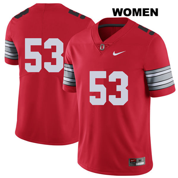 Davon Hamilton Womens Nike Red Stitched 2018 Spring Game Ohio State Buckeyes Authentic no. 53 College Football Jersey - Without Name - Davon Hamilton Jersey