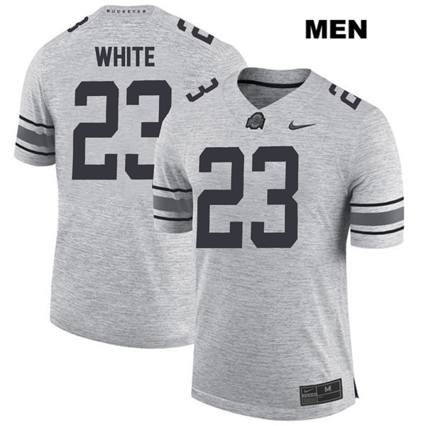 De'Shawn White Mens Nike Gray Ohio State Buckeyes Stitched Authentic no. 23 College Football Jersey - De'Shawn White Jersey