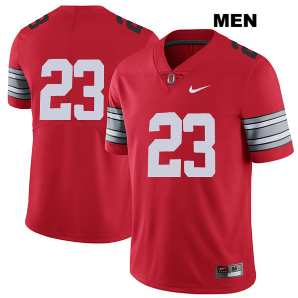 2018 Spring Game De'Shawn White Mens Red Ohio State Buckeyes Nike Authentic Stitched no. 23 College Football Jersey - Without Name - De'Shawn White Jersey