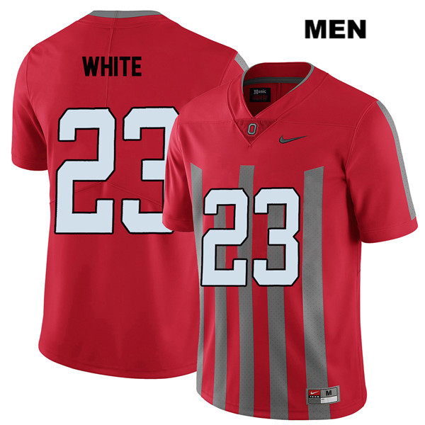 De'Shawn White Mens Stitched Red Elite Nike Ohio State Buckeyes Authentic no. 23 College Football Jersey - De'Shawn White Jersey