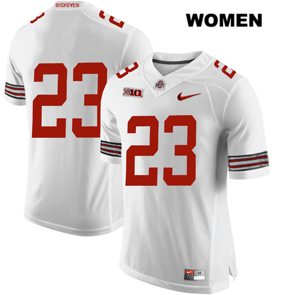 De'Shawn White Stitched Womens White Nike Ohio State Buckeyes Authentic no. 23 College Football Jersey - Without Name - De'Shawn White Jersey