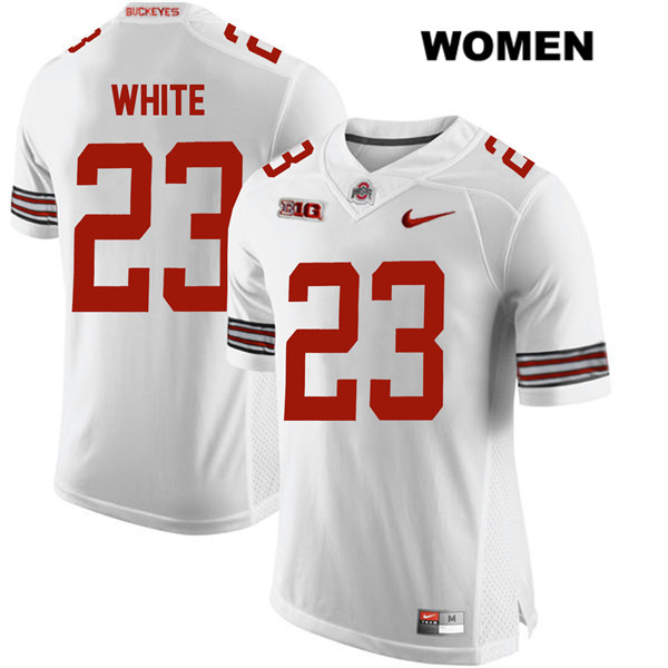 De'Shawn White Womens White Nike Ohio State Buckeyes Authentic Stitched no. 23 College Football Jersey - De'Shawn White Jersey