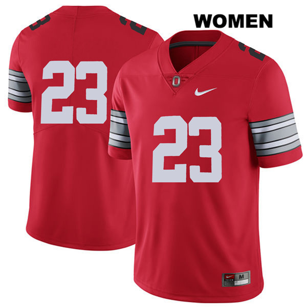 De'Shawn White 2018 Spring Game Womens Nike Red Ohio State Buckeyes Authentic Stitched no. 23 College Football Jersey - Without Name - De'Shawn White Jersey