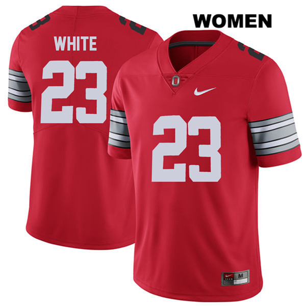 De'Shawn White Nike Womens Red 2018 Spring Game Ohio State Buckeyes Stitched Authentic no. 23 College Football Jersey - De'Shawn White Jersey