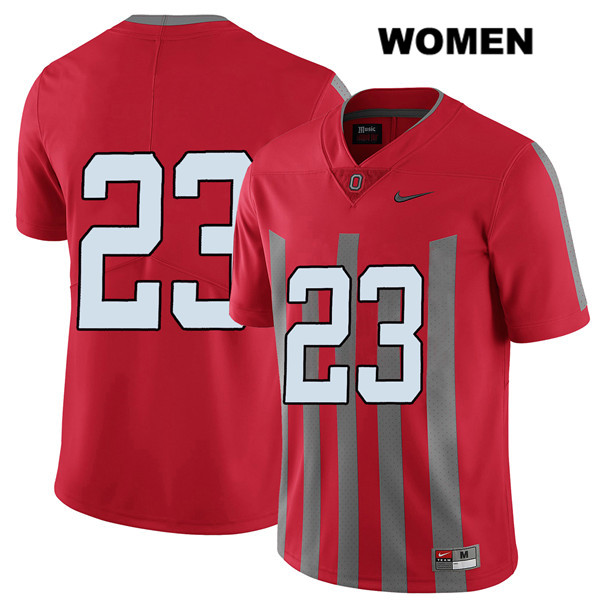 De'Shawn White Womens Red Stitched Nike Ohio State Buckeyes Elite Authentic no. 23 College Football Jersey - Without Name - De'Shawn White Jersey