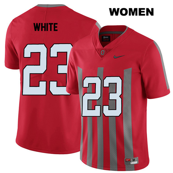 De'Shawn White Womens Nike Red Elite Ohio State Buckeyes Authentic Stitched no. 23 College Football Jersey - De'Shawn White Jersey
