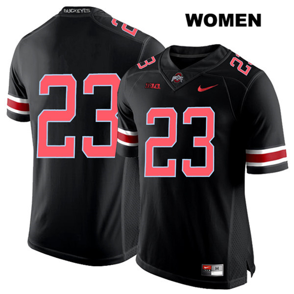De'Shawn White Stitched Womens Black Ohio State Buckeyes Nike Authentic Red Font no. 23 College Football Jersey - Without Name - De'Shawn White Jersey