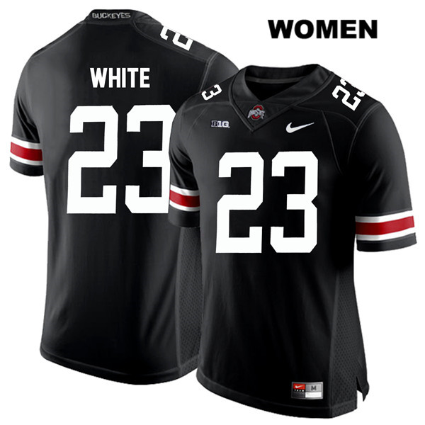De'Shawn White Nike Womens Black Ohio State Buckeyes White Font Authentic Stitched no. 23 College Football Jersey - De'Shawn White Jersey