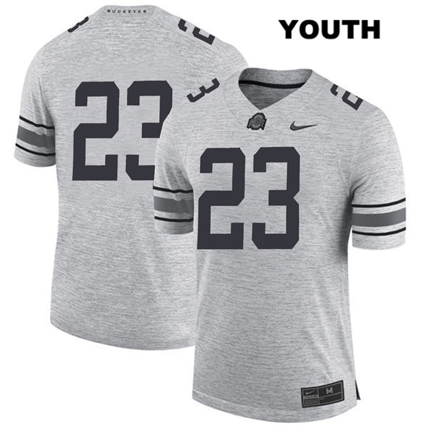 De'Shawn White Stitched Youth Nike Gray Ohio State Buckeyes Authentic no. 23 College Football Jersey - Without Name - De'Shawn White Jersey