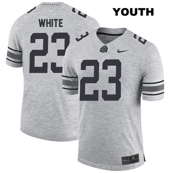 De'Shawn White Youth Nike Gray Ohio State Buckeyes Stitched Authentic no. 23 College Football Jersey - De'Shawn White Jersey