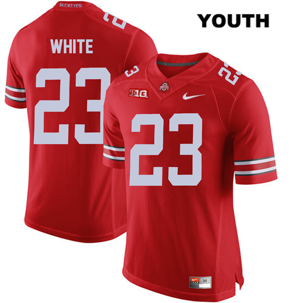 De'Shawn White Stitched Youth Red Ohio State Buckeyes Nike Authentic no. 23 College Football Jersey - De'Shawn White Jersey