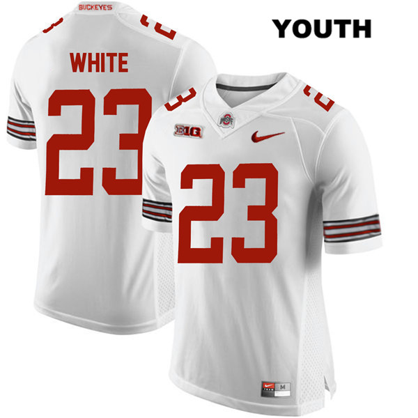 De'Shawn White Stitched Youth Nike White Ohio State Buckeyes Authentic no. 23 College Football Jersey - De'Shawn White Jersey