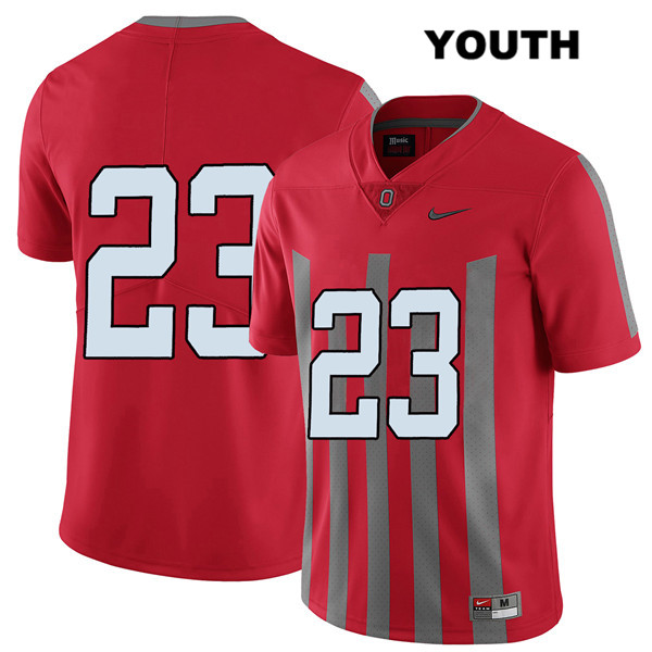 De'Shawn White Elite Youth Red Stitched Ohio State Buckeyes Nike Authentic no. 23 College Football Jersey - Without Name - De'Shawn White Jersey