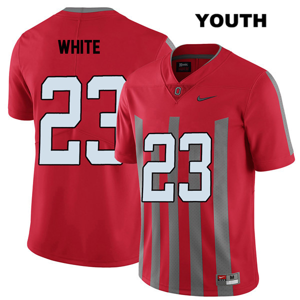 De'Shawn White Youth Nike Red Ohio State Buckeyes Stitched Authentic Elite no. 23 College Football Jersey - De'Shawn White Jersey