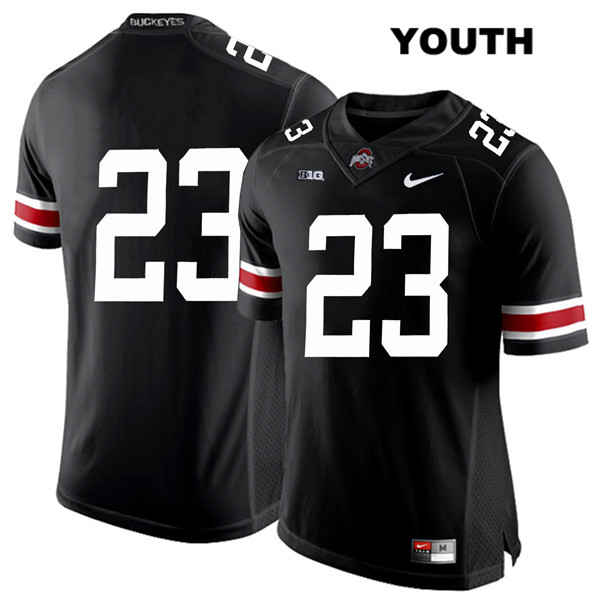 De'Shawn White White Font Youth Black Nike Ohio State Buckeyes Stitched Authentic no. 23 College Football Jersey - Without Name - De'Shawn White Jersey
