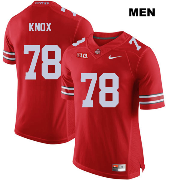 Demetrius Knox Mens Red Ohio State Buckeyes Nike Authentic Stitched no. 78 College Football Jersey - Demetrius Knox Jersey