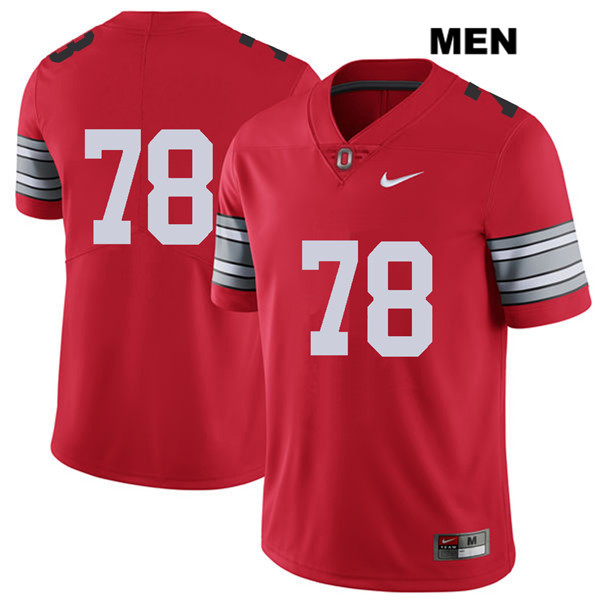 Demetrius Knox Mens Red 2018 Spring Game Ohio State Buckeyes Nike Authentic Stitched no. 78 College Football Jersey - Without Name - Demetrius Knox Jersey